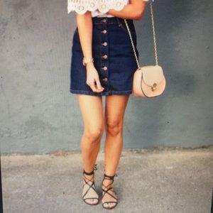 Ladies Denim Mini Skirt by Mango .